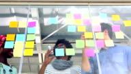 Creative business team having a meeting video