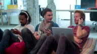 HD: Creative Designer Team Relaxing In A Office. video