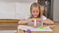 HD DOLLY: Creative Little Girl With Playdough video