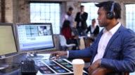 Creative media editor at work video