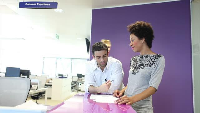 Creative team meeting video
