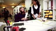 Creative teamwork group in the startup office: coffee break video