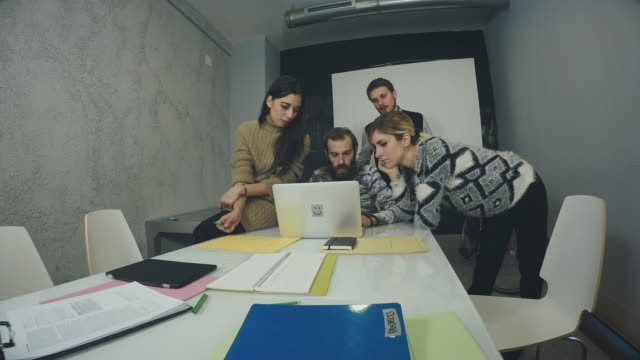 Creative teamwork group in the startup office video