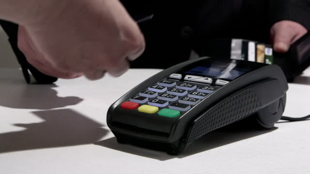 Credit and debit cards payment processing video
