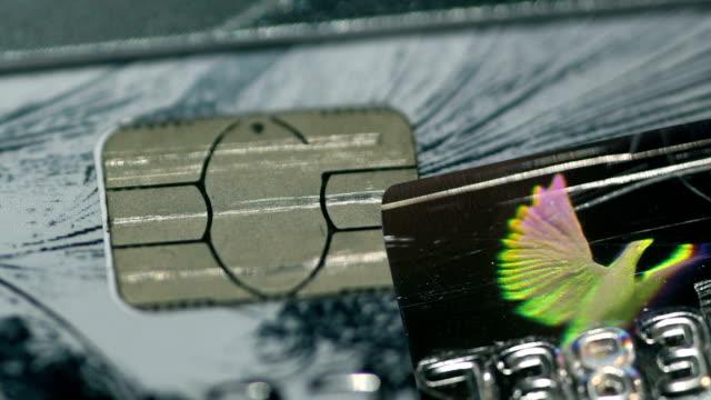 credit card hologram video