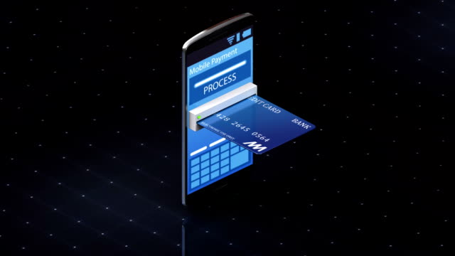 credit card insert a smartphone, Internet,online payments video