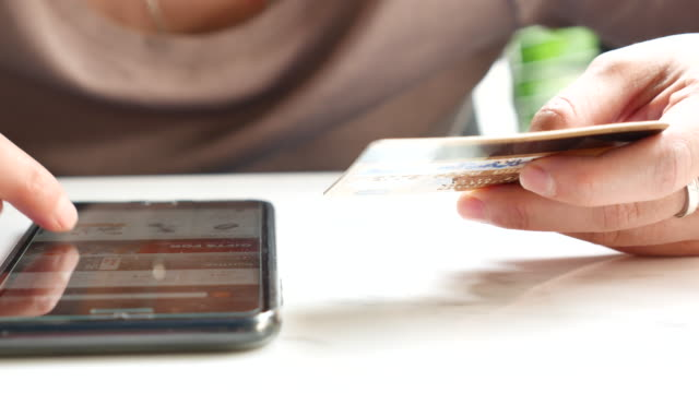 Credit card on Mobile phone video