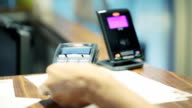 Credit card payment transaction - Contactless payment equipment video