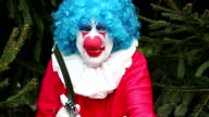Creepy Clown With Knife Luring Victim video