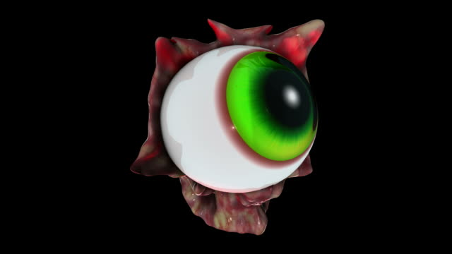 creepy eye watching you HD alpha video