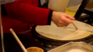 Crepe making video