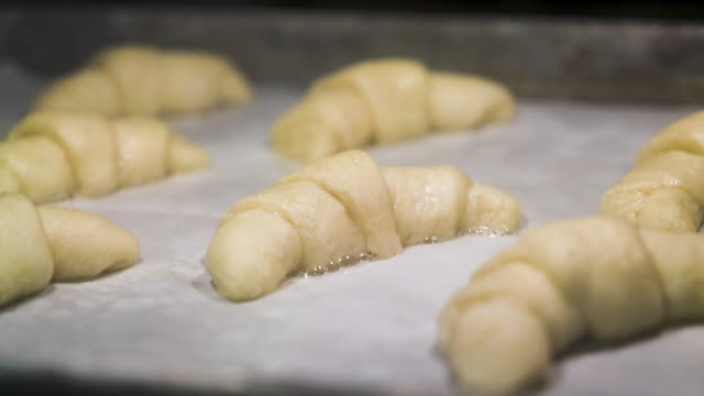 Crescent Rolls Time Lapse in Oven Baking video