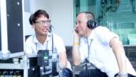 Crew in television studio,outdoor video