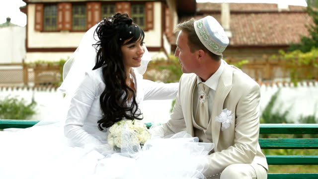 Crimean Tatar newlyweds in Bakhchisaray Palace video