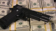 Criminal activity, illegal transaction, crime, mafia.  US Currency. Cash. Money. video