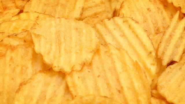 Crinkle-Cut Potato Chips Rotating video