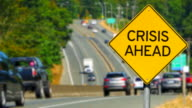 Crisis Ahead, Yellow Diamond Warning Sign, Traffic Alert video