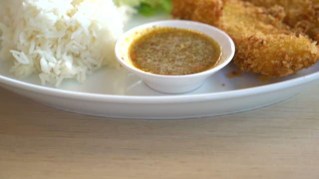 crispy fish with rice video