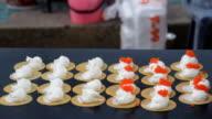 Crispy pancakes - Bangkok, thailand video