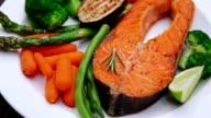 Crispy roasted salmon steak video
