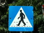 Croatia: Crosswalk / Pedestrian Crossing Road Sign video