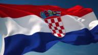 4K Croatia Flag - Loopable video