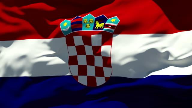 Croatian Flag video