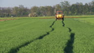 HD DOLLY: Crop Spraying With Tractor video