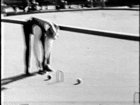 Croquet ball hit - from 16mm film video
