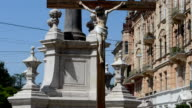 Cross near Saint Andrey's Greco-catholic temple. video