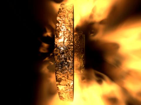 cross on fire (NTSC) video