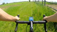 Cross-country with a cyclocross bicycle. video