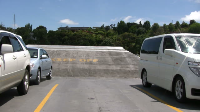 (HD1080i) Crossing: Cars on Vehicle Ferry Deck video