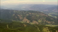 Crossing the Kootenai National Forest  - Aerial View - Montana, Sanders County, United States video