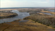 Crossing the South Altamaha River  - Aerial View - Georgia,  McIntosh County,  United States video