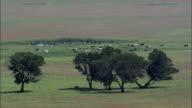 Crossing the Veldt  - Aerial View - KwaZulu-Natal,  uMzinyathi District Municipality,  Endumeni,  South Africa video