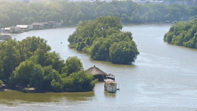 4K: Crossroads of the Sava and Danube rivers; Belgrade video