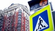 Crosswalk light and sign video