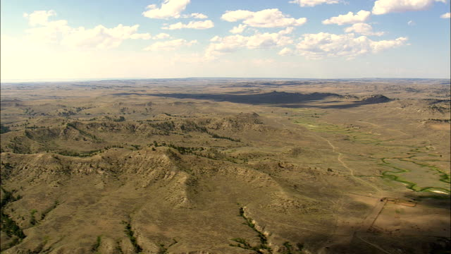 Crow Indian Reservation - Aerial View - Montana, Big Horn County, United States video