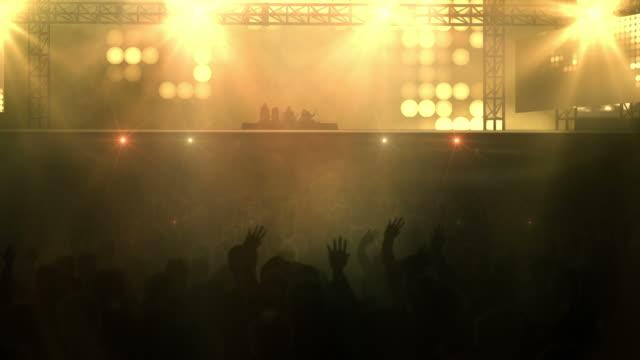 Crowd at Concert  - Loop (Rock Music, Orange Version) video