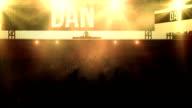 Crowd at Concert (Electronic Music, Orange Version) video