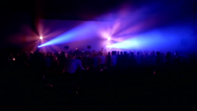 Crowd at nightclub video