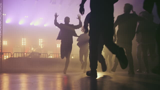 Crowd entering concert hall video
