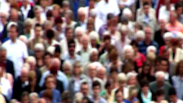 Crowd of people - blurred effect added video