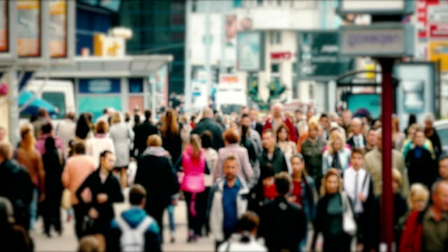 Crowd of People / Commuters Walking / Busy Street video