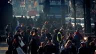 Crowd Of People Deep In City video