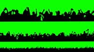 Crowd of people. Green screen. video