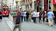 HD: Crowd of People Walking in the Istiklal Avenue ,TimeLapse video