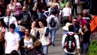Crowd of people walking video