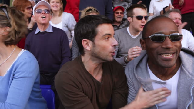 Crowd of sports spectators video